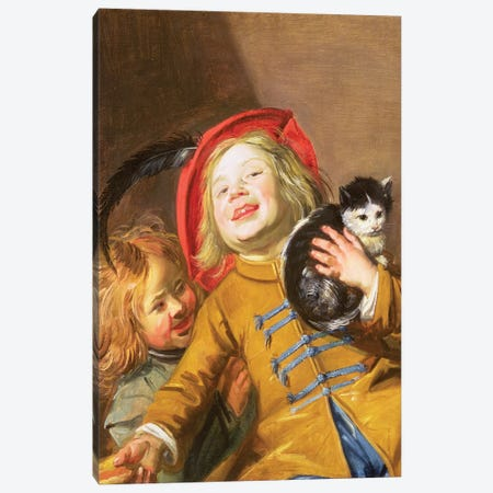 Laughing Children With A Cat, 1629 Canvas Print #BMN7610} by Judith Leyster Canvas Print