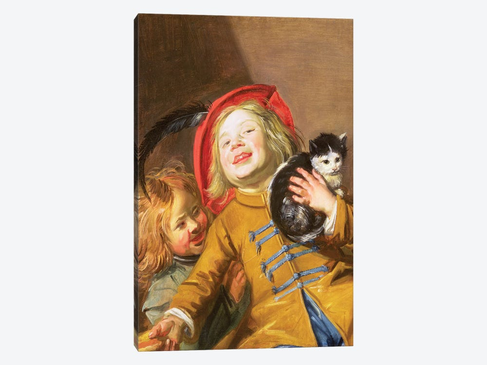 Laughing Children With A Cat, 1629 by Judith Leyster 1-piece Canvas Artwork