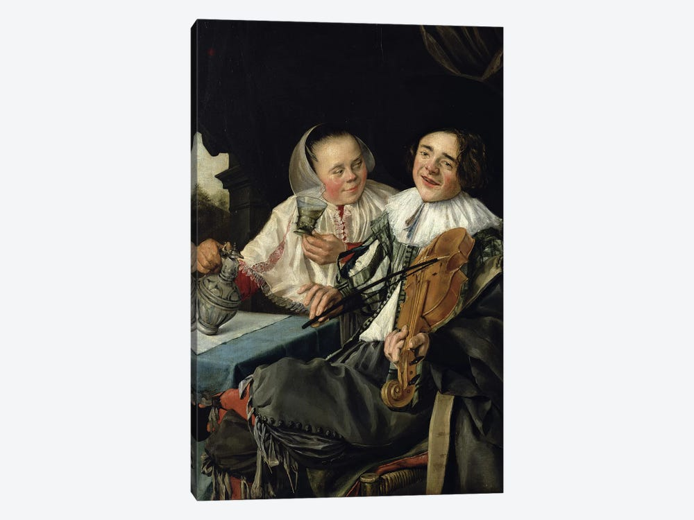 Merry Company, 1630 by Judith Leyster 1-piece Canvas Art Print