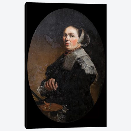 Self Portrait Canvas Print #BMN7612} by Judith Leyster Canvas Art Print