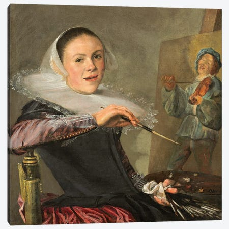 Self-Portrait, c.1630 Canvas Print #BMN7613} by Judith Leyster Canvas Art Print