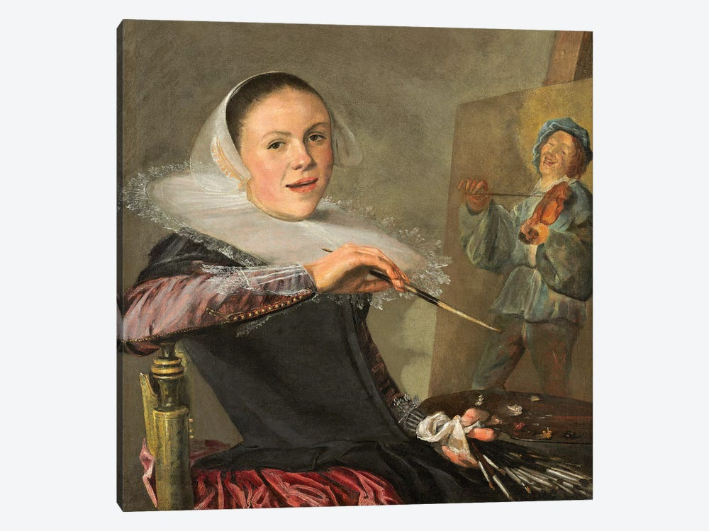 Self-Portrait, c.1630 by Judith Leyster 1-piece Canvas Art Print