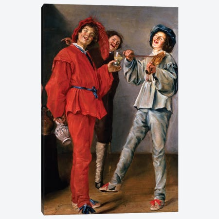 Three Boys Merry-Making, c.1629 Canvas Print #BMN7615} by Judith Leyster Canvas Art