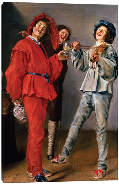 Three Boys Merry-Making, c.1629 Canvas Art Print