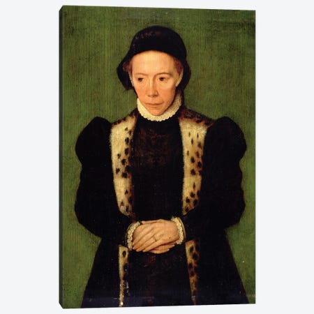 Portrait Of A Woman Canvas Print #BMN7616} by Catharina van Hemessen Canvas Wall Art