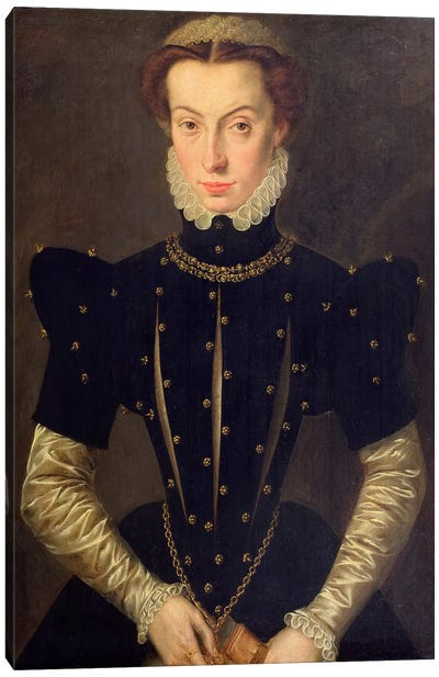 Portrait Of The Blessed Margaret Of Lorraine Canvas Art Print