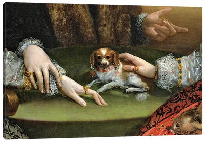 Detail Of Family Dog, The Gozzadini Family Canvas Art Print