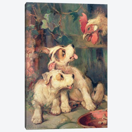Three's a Crowd  Canvas Print #BMN761} by Philip Eustace Stretton Canvas Art Print