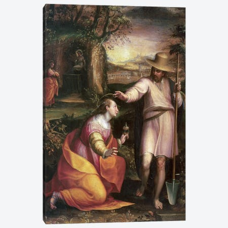 Noli me Tangere (Touch Me Not), 1581 Canvas Print #BMN7620} by Lavinia Fontana Canvas Wall Art