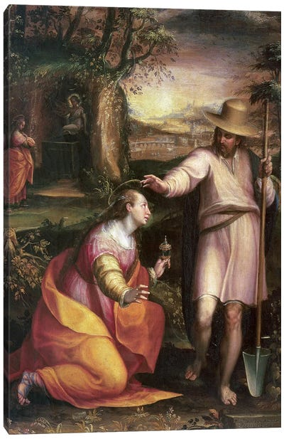 Noli me Tangere (Touch Me Not), 1581 Canvas Art Print