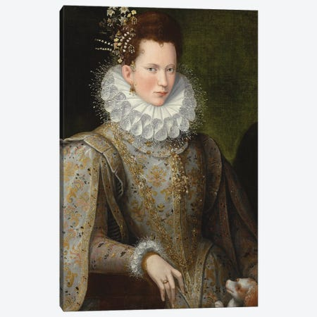 Portrait Of A Lady, 1590-99 Canvas Print #BMN7622} by Lavinia Fontana Canvas Art