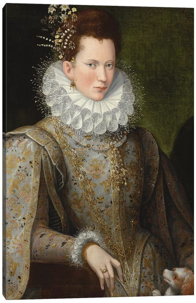 Portrait Of A Lady, 1590-99 Canvas Art Print