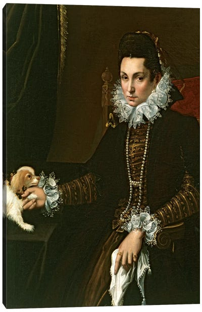 Portrait Of Ginevra Aldrovandi Hercolani As A Widow, c.1597-99 Canvas Art Print