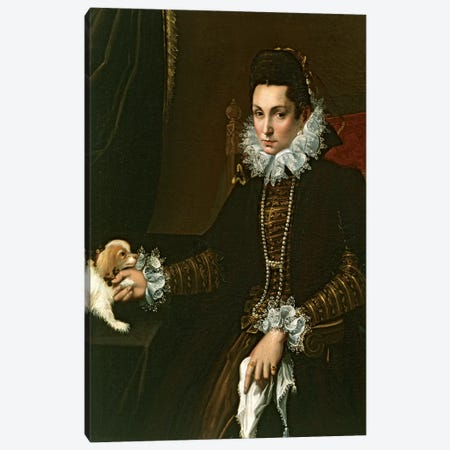Portrait Of Ginevra Aldrovandi Hercolani As A Widow, c.1597-99 Canvas Print #BMN7624} by Lavinia Fontana Canvas Print