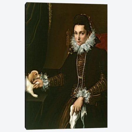 Portrait Of Ginevra Aldrovandi Hercolani As A Widow, c.1597-99 Canvas Print #BMN7624} by Lavinia Fontana Canvas Print