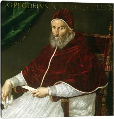 Portrait Of Pope Gregory XIII (Ugo Buoncompagni) Canvas Art Print
