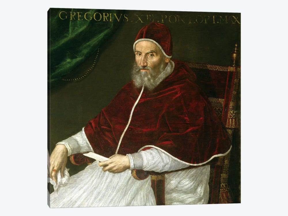 Portrait Of Pope Gregory XIII (Ugo Buoncompagni) by Lavinia Fontana 1-piece Canvas Artwork