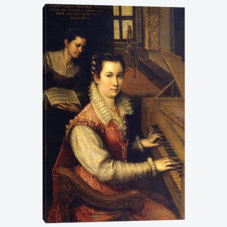 Self Portrait At The Spinet, 1578 (Accademia di San Luca) Canvas Print #BMN7626} by Lavinia Fontana Art Print