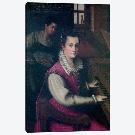 Self Portrait, 1578 (Galleria degli Uffizi) 3-Piece Canvas #BMN7627} by Lavinia Fontana Art Print
