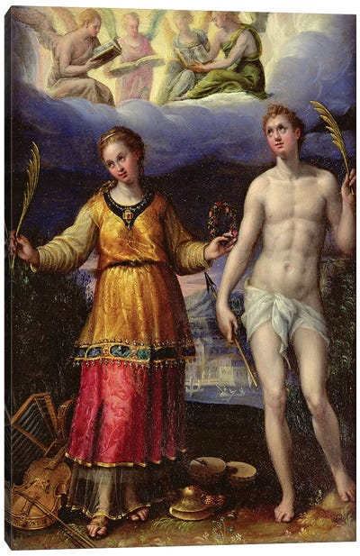 St. Sebastian And St. Cecilia Canvas Art Print