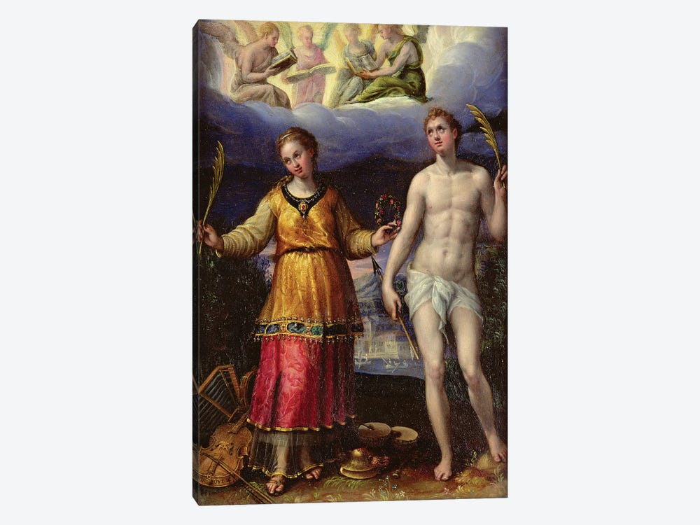 St. Sebastian And St. Cecilia by Lavinia Fontana 1-piece Canvas Print
