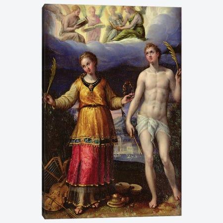 St. Sebastian And St. Cecilia Canvas Print #BMN7628} by Lavinia Fontana Canvas Wall Art