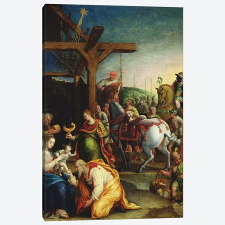The Adoration Of The Magi, c.1570-99 Canvas Print #BMN7629} by Lavinia Fontana Canvas Art