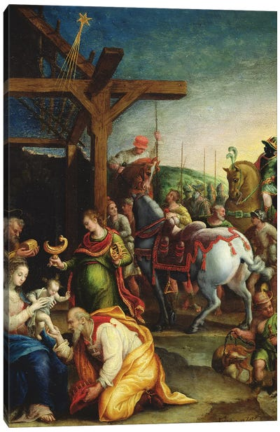 The Adoration Of The Magi, c.1570-99 Canvas Art Print