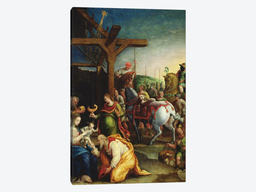 The Adoration Of The Magi, c.1570-99 1-piece Canvas Art