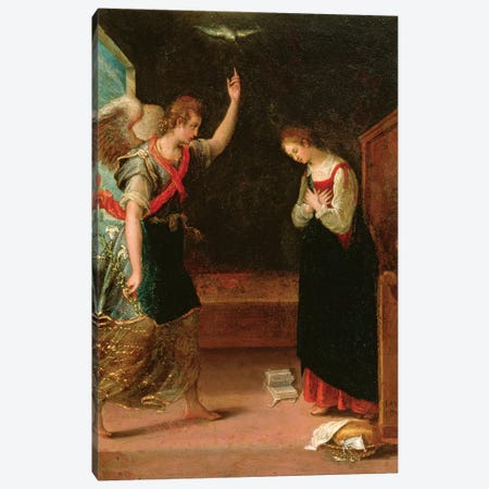 The Annunciation Canvas Print #BMN7630} by Lavinia Fontana Canvas Art Print