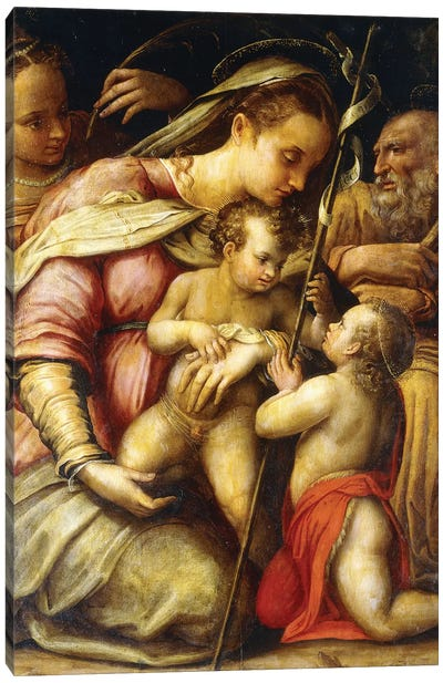 The Holy Family With The Infant Saint John The Baptist And Saint Catherine Canvas Art Print