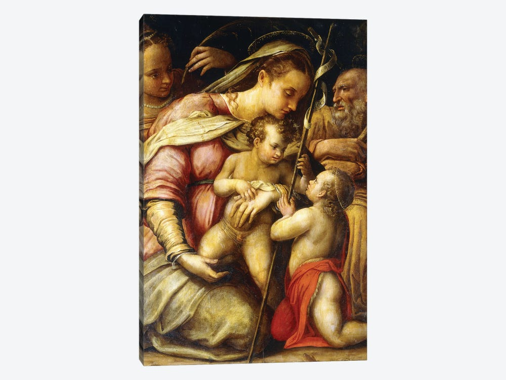 The Holy Family With The Infant Saint John The Baptist And Saint Catherine by Lavinia Fontana 1-piece Canvas Print