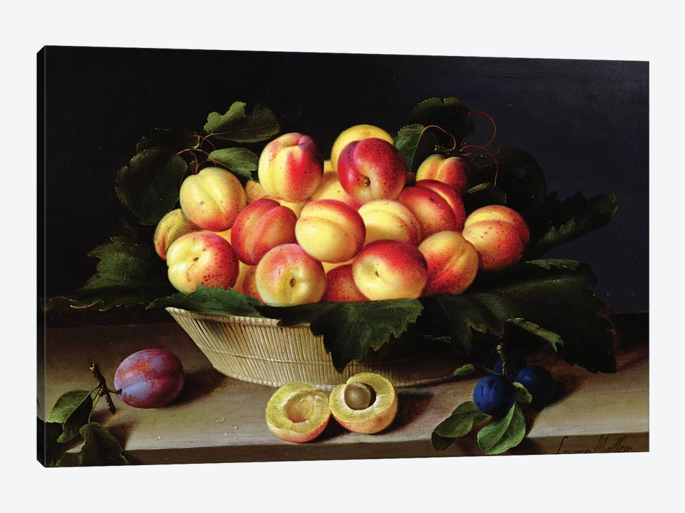 Basket Of Apricots, 1634 by Louise Moillon 1-piece Canvas Art