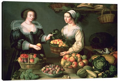 The Fruit And Vegetable Seller Canvas Art Print