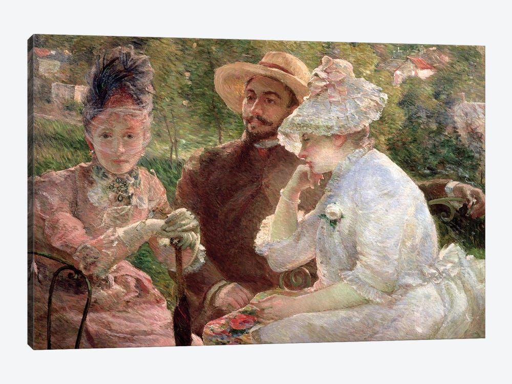 On The Terrace At The Sevres, 1880 by Marie Bracquemond 1-piece Canvas Print