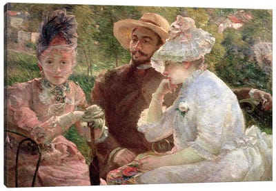 On The Terrace At The Sevres, 1880 Canvas Art Print