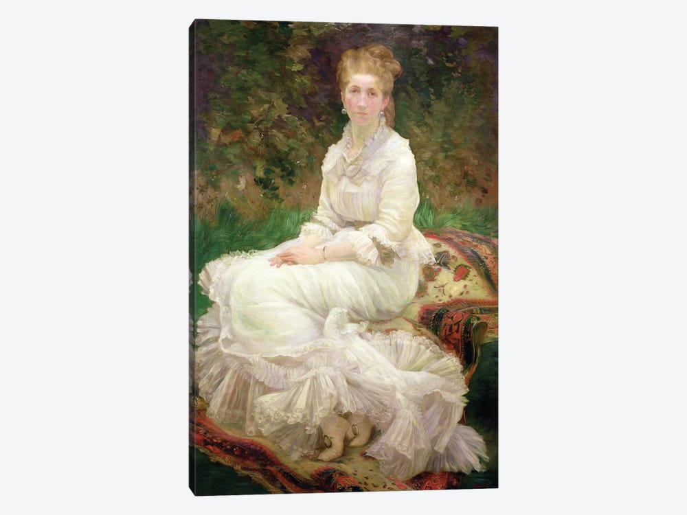 The Woman In White, c.1880 by Marie Bracquemond 1-piece Canvas Art