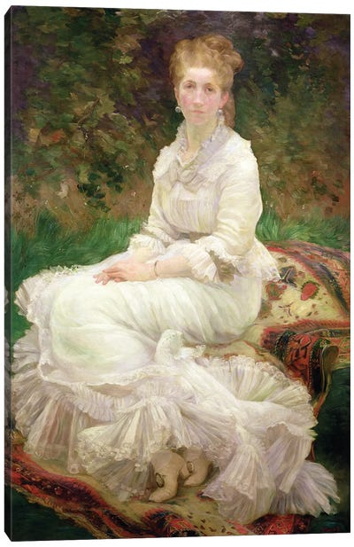 The Woman In White, c.1880 Canvas Art Print