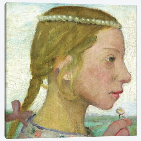 A Young Girl Canvas Print #BMN7640} by Paula Modersohn-Becker Canvas Wall Art