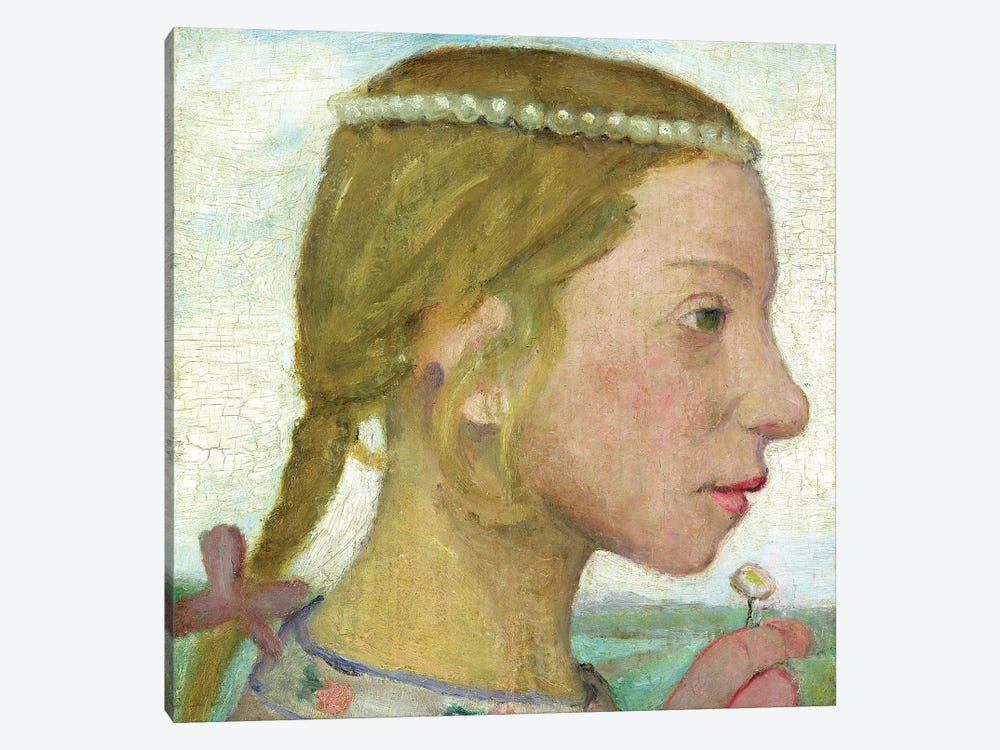 A Young Girl 1-piece Canvas Art Print