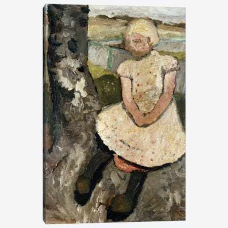 Child Sitting Under A Tree (Kind Sitzen Unter Einem Baum), c.1905 Canvas Print #BMN7641} by Paula Modersohn-Becker Canvas Wall Art
