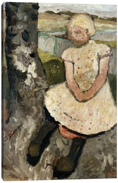 Child Sitting Under A Tree (Kind Sitzen Unter Einem Baum), c.1905 Canvas Art Print