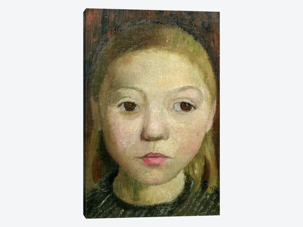 Head Of A Girl by Paula Modersohn-Becker 1-piece Canvas Print