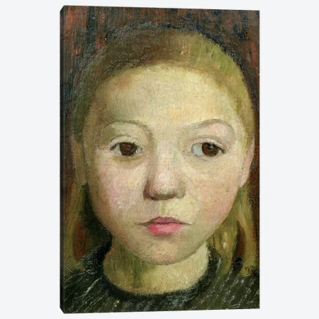 Head Of A Girl Canvas Print #BMN7642} by Paula Modersohn-Becker Canvas Artwork