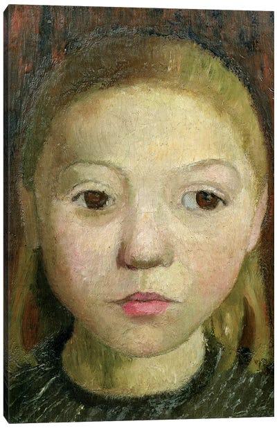 Head Of A Girl Canvas Art Print