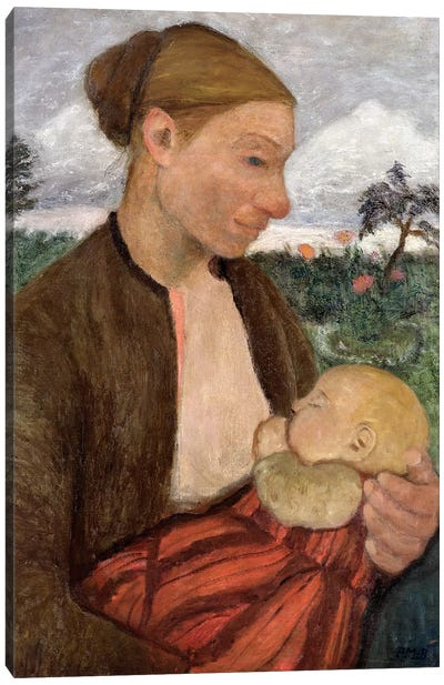 Mother And Child, 1903 Canvas Art Print