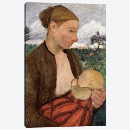 Mother And Child, 1903 Canvas Print #BMN7644} by Paula Modersohn-Becker Art Print