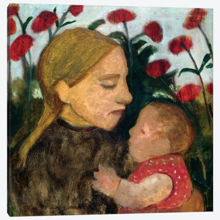 Mother And Child, c.1904 Canvas Print #BMN7645} by Paula Modersohn-Becker Canvas Print