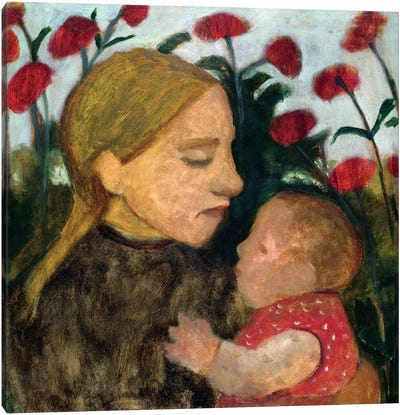 Mother And Child, c.1904 Canvas Art Print