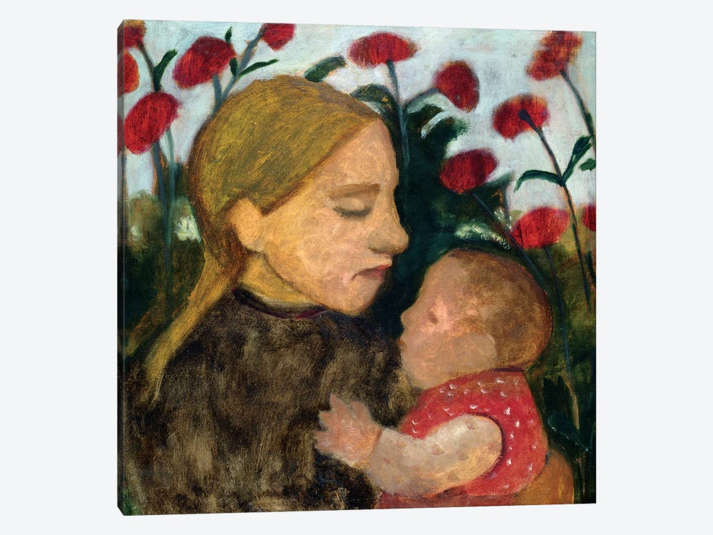 Mother And Child, c.1904 by Paula Modersohn-Becker 1-piece Canvas Wall Art